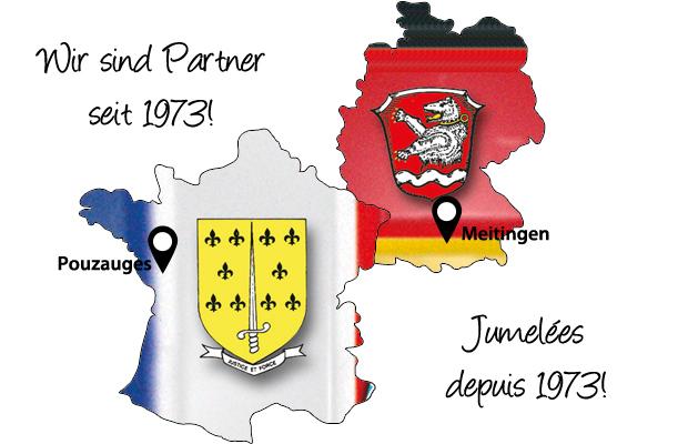 Herzlich willkommen auf der Homepage des Partnerschaftskomitees Meitingen-Pouzauges